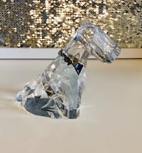 Large Swarovski Dog with Blue Gem, Crystal Figurine Richmond, V6Y