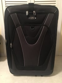 Black and grey suitcase (med size) Burnaby, V5J 1Z3