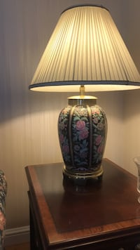 white and blue floral table lamp Toms River, 08755