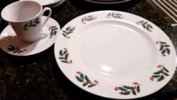 12 piece Holiday porcelain place setting