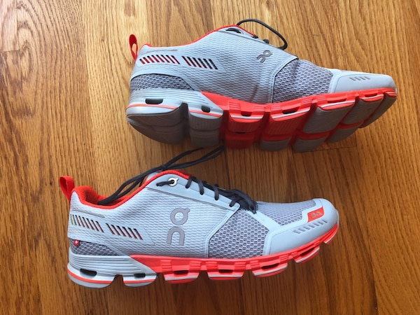 fc27e3d97504ce Used ON CLOUDFLYER MEN RUNNING SHOES SIZE 10 GLACIER SPICE for sale ...