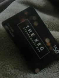 50$ The Keg gift card Winnipeg, R2R