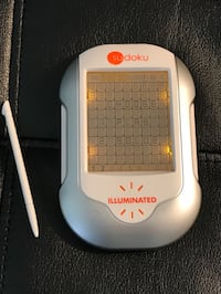 Sudoku Illuminated Techno Source handheld battery operated game with stylus (used but like new condition). Sterling, 20164