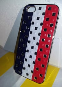 Coque iPhone 5/5c rouge, blanche et bleue Paris-13E-Arrondissement, 75013
