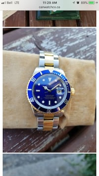 """2004 Rolex Submariner Full Set """"bluesy""""! Excellent condition, also comes with certificate of authenticity and appraisal for insurance purposes. Asking $15,000.00 O.B.O Uxbridge, L4A 7X4"""