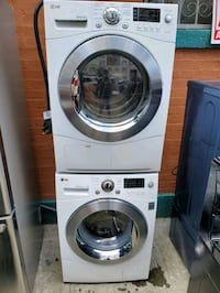 Lg washer and electric ventless dryer set
