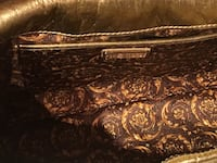 brown and black floral fabric sofa BROOKLYN