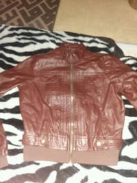 Leather jacket for girls Riverbank, 95367