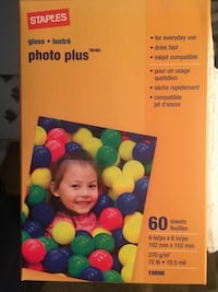 "4""x6"" Photo Plus paper, 60 gloss sheets per pack. Londonderry, 03053"