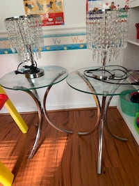 white and green glass top table Accokeek, 20607
