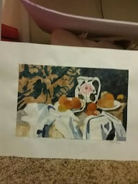 white and brown floral painting Tucson, 85715