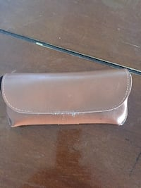 silver-colored leather wristlet Toronto, M2R 2C2