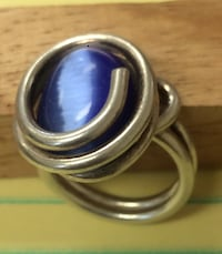 silver-colored ring with blue gemstone Roanoke, 24012