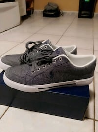 pair of gray low-top sneakers Vaughan