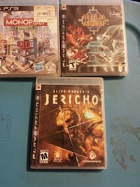 three assorted PS3 games  South Bend, 46628