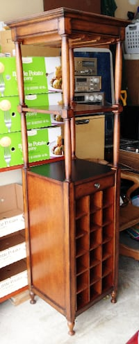 High Vertical Bar Cabinet with Wine Storage.