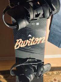 only used once! Burton Ripcord 158 with bindings and boots!