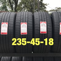 4 used tires 235/45/18 Goodyear LS2