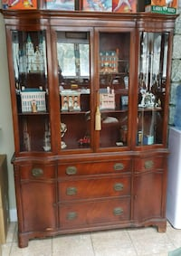 Antique, lighted china cabinet hutch Beverly, 01915