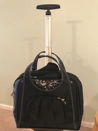 Black travel luggage bag