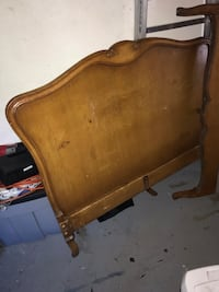 Twin bedframe wood parts only