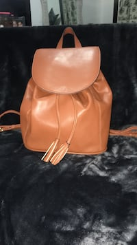 Camel Colored Leather Knapsack Greenwich, 06830