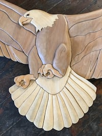 Hand Carved Wooden Bald Eagle  Hamilton, L8B 0Z5