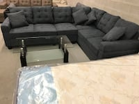 Brand new large charcoal fabric sectional sofa warehouse sale  多伦多, M1S 4A9