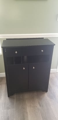 Black cabinet with storage and charging station  Caledon, L7C 1B5