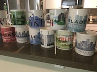 Starbucks city mugs 19 total Arlington, 22207