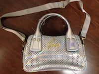 Juicy Couture Iridescent Silver Sporty Mini Triple Crossbody