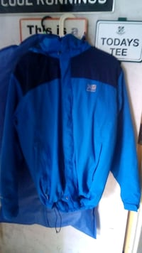 blue and black The North Face zip-up jacket Merseyside, WA10 4PE