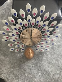 Peacock decorative wall clock Toronto, M3C 1S6