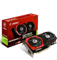 MSI NVIDIA GeForce GTX 1050 TI Gaming X 4G 4GB 128 bit GDDR5 DX(12) PC