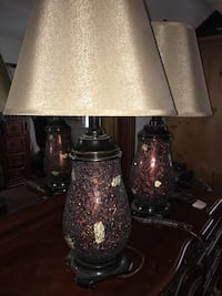 2 gold and brown lamps Islip, 11741