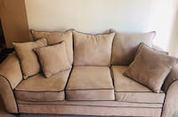 Microfiber Couch with Brown Piping Washington, 20018