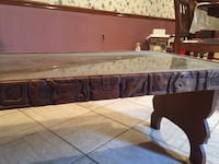 brown wooden framed glass top coffee table Harahan, 70123