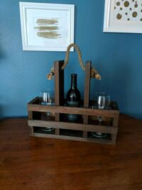 Decorative holder basket for wine and glasses Minneapolis, 55408