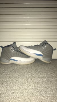 pair of gray-and-white Air Jordan 12 Alexandria, 22315