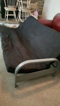 Metal arm (Silver)futon frame with full size mattr Winchester, 22601