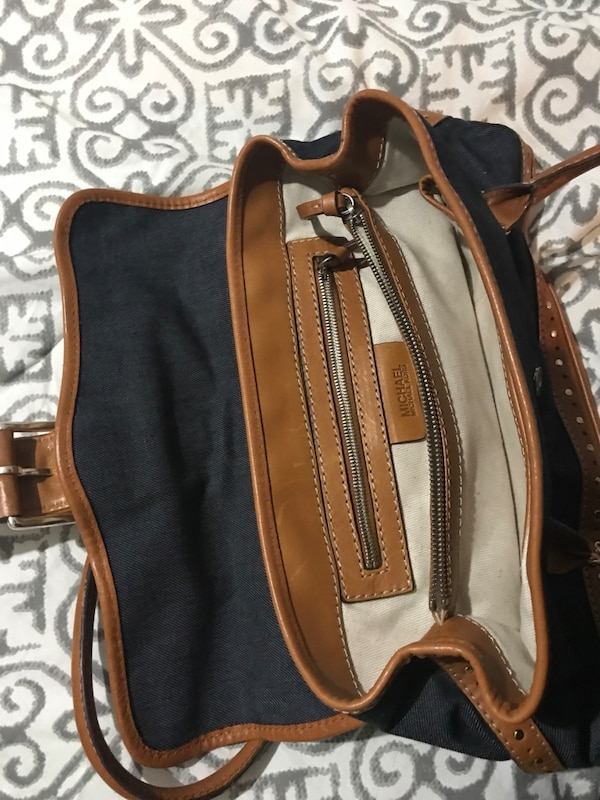 622f5367ffc1 Used Michael Kors denim and brown purse. Barely used. for sale in ...