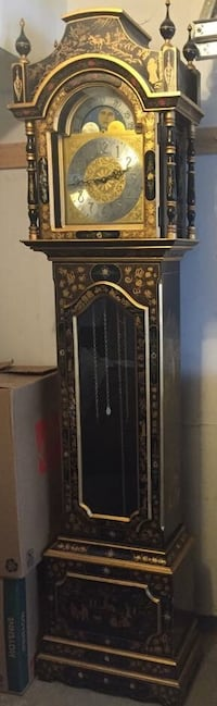 Antique hand painted grandfather clock