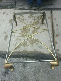 Brass and stainless steel coffee table with glass Toronto, M3M 1T4
