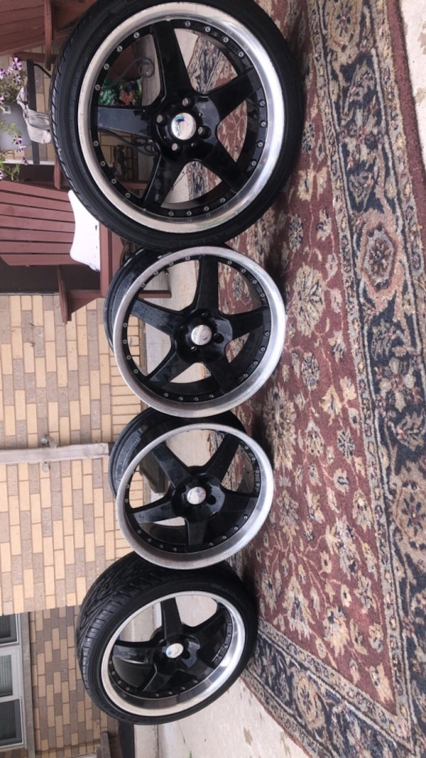 Rims for sale or trade for atv or a dirt bike  or other rims  e2cd32f3-2884-46d7-a629-b1a9aae560f0