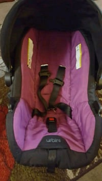 baby's pink and black car seat carrier Schenectady, 12303