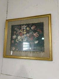 brown wooden framed painting of flowers Asheville, 28803