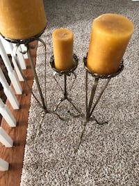 two brown wooden candle holders Washington, 20006