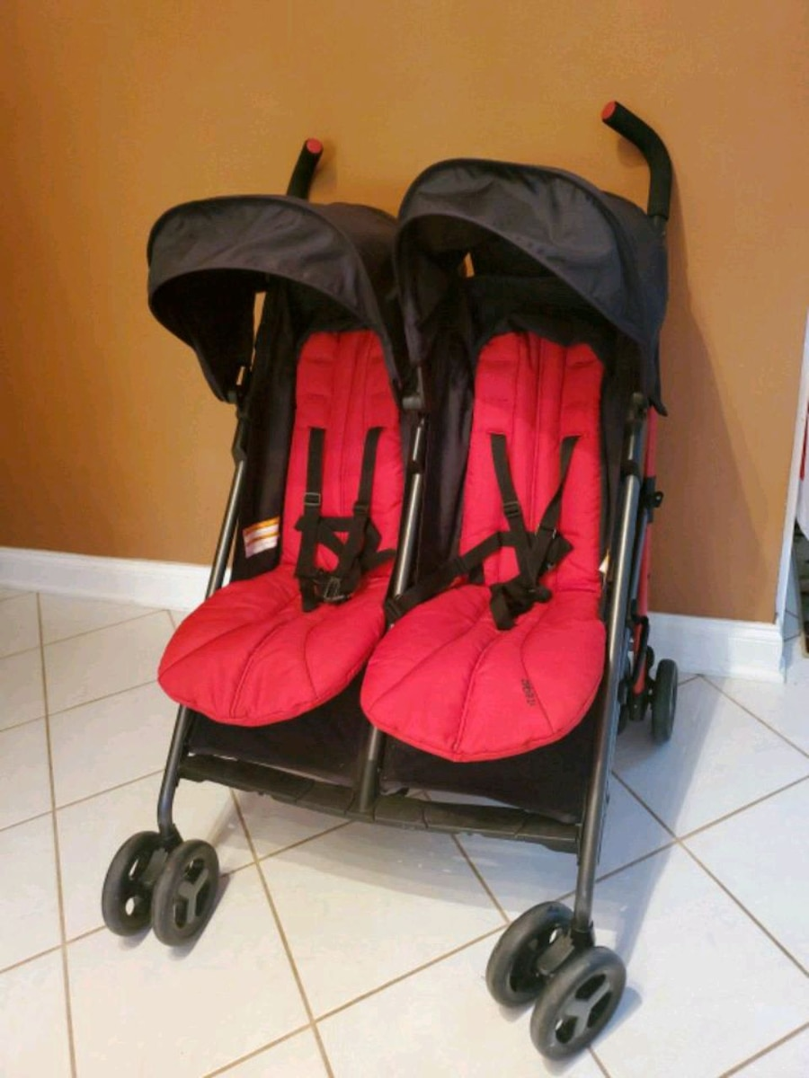 Photo Double side by side baby stroller EX Condition