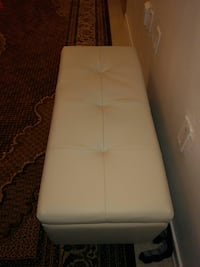35 by 15 brand new biege color ottoman