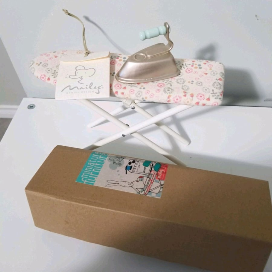 Maileg ironing board furniture & maileg bunny doll